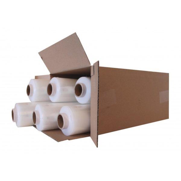 500mm x 300m Medium Duty Hand Pallet Wrap (Box of 6 Reels) 500mm x 300m Medium Duty Hand Pallet Wrap (Box of 6 Reels)