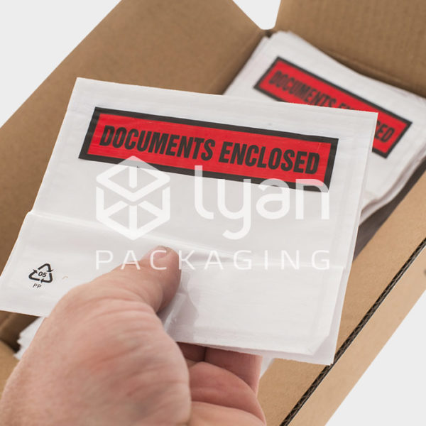 A6 Printed 'Documents Enclosed' Wallets