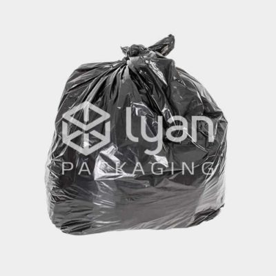 "Black Bin Bags, 34"" Long (Box of 200)"