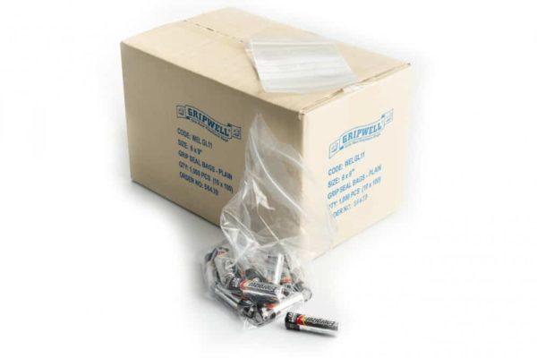 "3"" x 3.25"" Grip-Seal Bag (Box of 1000)"