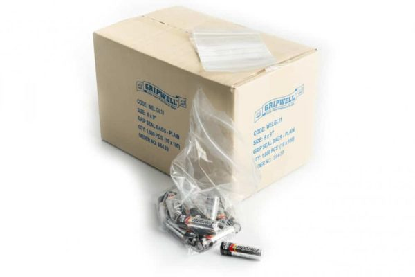 "4"" x 5.5"" Grip-Seal Bag (Box of 1000)"