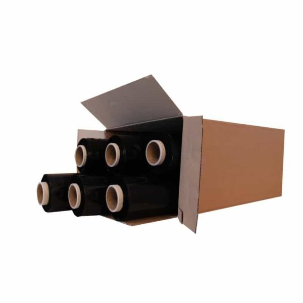 500mm x 250m x 23 micron Black Hand Pallet Wrap
