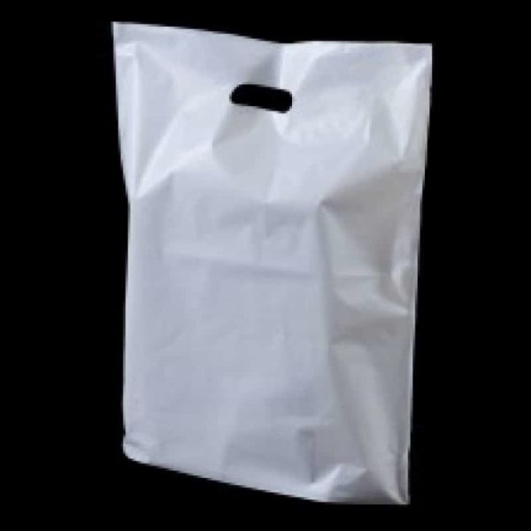 White Patch Handle Carriers- Large (Box of 500)